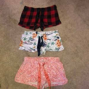 3 pairs of old navy pajama bottoms